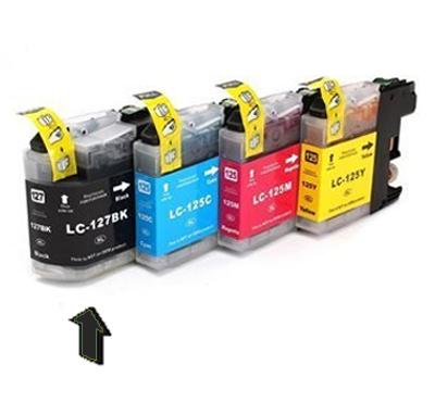 Inkoust LC-127XL BK kompatibilní s Brother LC-127XLBK, černý, 30 ml !!