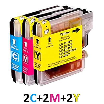 ** Sada 6 inkoustů LC-1100 (LC-980) CMY kompatibilní s Brother se slevou 15 % !!