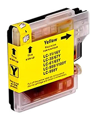 Inkoust LC-1100Y kompat. s Brother LC-1100Y, LC-980Y, žlutý, 16 ml !!