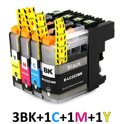 ** Sada 6 inkoustů LC-223 CMYK kompatibilní s Brother se slevou 15 % !!