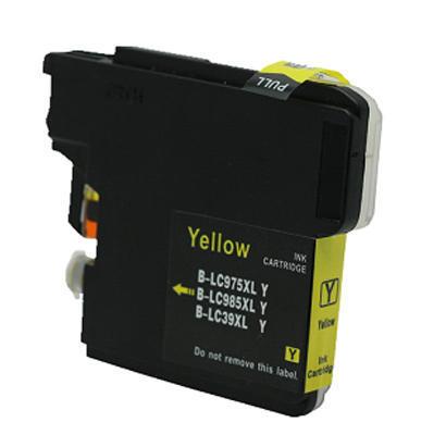 Inkoust LC-985Y kompatibilní s Brother LC-985Y, žlutý, 19 ml !!