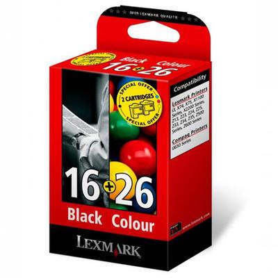 ** Inkousty Lexmark č.16+č.26 / 10N0016, 10N0026 originální