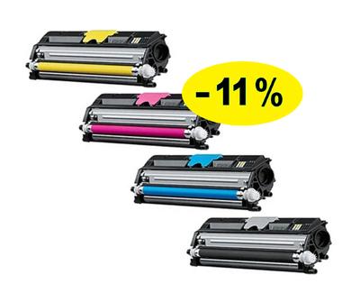 ** Sada 4 tonerů CMYK kompat. s Konica Minolta MC1650 se slevou 11 % !!