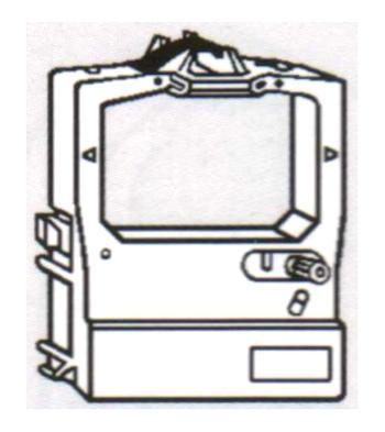 Páska do OKI ML-520, 521, 590, 591 aj. kompatibilní, černá - 1 ks