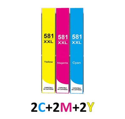 ** Sada 6 inkoustů CLI-581C,M,Y XXL se slevou 10 % !!