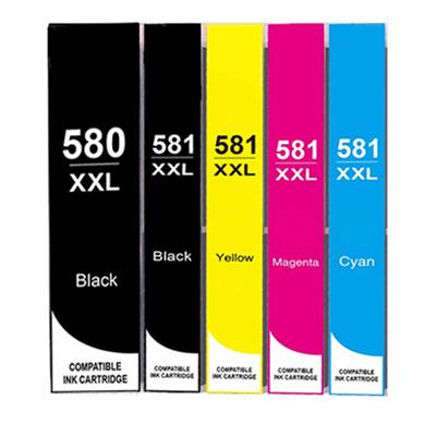 ** Sada 5 inkoustů PGI-580BK XXL + CLI-581BK,C,M,Y XXL se slevou 10 % !!