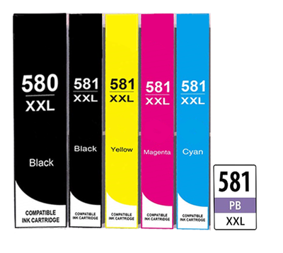 ** Sada 6 inkoustů PGI-580BK XL + CLI-581BK,C,M,Y,PB XXL se slevou 10 % !!