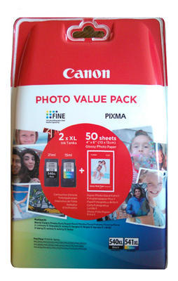 ** Inkousty Canon PG-540XL + CL-541XL + 50x fotopapír, originální - 1