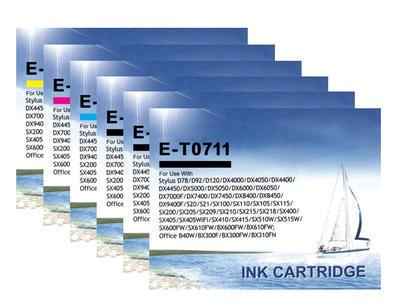 ** Sada 6 inkoustů T0711,2,3,4 do tiskáren Epson se slevou 15 % !!