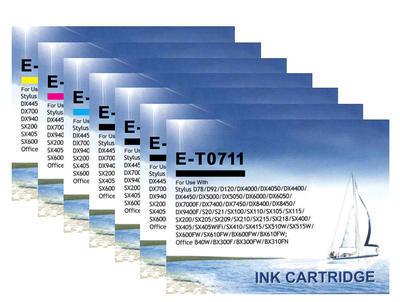 ** Sada 7 inkoustů Epson T0711 T0712 T0713 T0714 kompatibilní - sleva 15 % !!