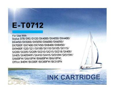 Inkoust T0712 kompatibilní s Epson T0712, azurový, 12 ml !!