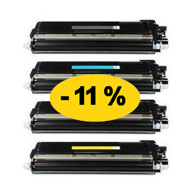 ** Sada 4 tonerů CMYK kompatibilní s Brother TN-230 se slevou 11 % !!