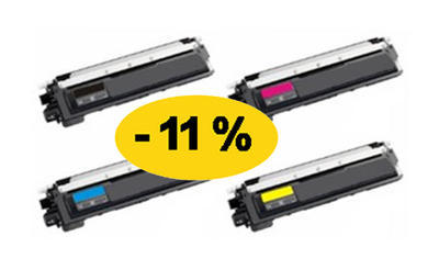 ** Sada 4 tonerů CMYK kompatibilní s Brother TN-325, TN-320 se slevou 11 %