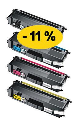 ** Sada 4 tonerů CMYK kompatibilní s Brother TN-326, TN-321 se slevou 11 % !!