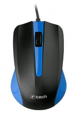 C-TECH optická myš WM-01B, 1200 DPI, USB, modro-černá, 3 tlačítka - 2