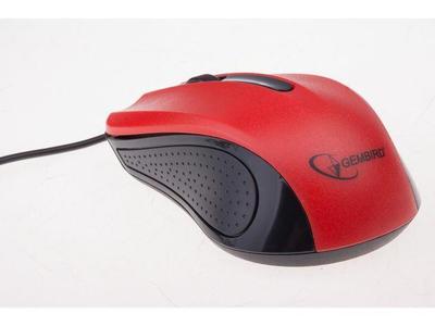 Gembird optická myš 1200 DPI, USB, červeno-černá, 3 tlačítka - 2