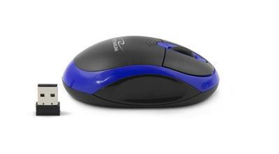 Titanum TM116B VULTURE bezdrátová optická myš, 1000 DPI, černo-modrá - 2