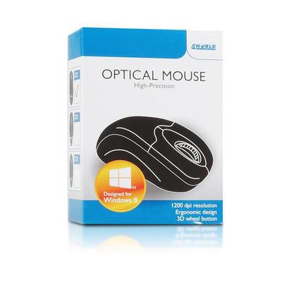 4World optická myš BASIC1, USB, 1200 DPI, černá + bezbarvá, 3 tlačítka - 3