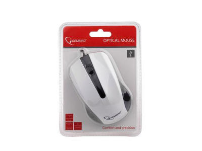 Gembird optická myš 1200 DPI, USB, bílo-černá, 3 tlačítka - 3