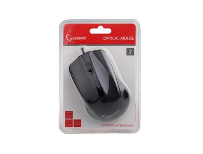 Gembird optická myš 1200 DPI, USB, černá, 3 tlačítka - 3