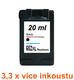 Inkoust HP 652XL / F6V25AE kompatibilní, černý, 20 ml !! -- -- 3,3 x více inkoustu