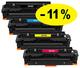 ** Sada 4 tonerů CMYK kompatibilní s HP CF410,1,2,3A se slevou 11 % !!