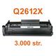 Toner HP Q2612X / HP 12X kompatibilní, černý, 3.000 str.