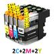 ** Sada 6 inkoustů LC-223 CMY do tiskáren Brother se slevou 15 % !!