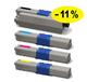 ** Sada 4 tonerů CMYK kompatibilní s OKI C310,  C330,  C510 se slevou 11 % !!