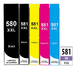 ** Sada 6 inkoustů PGI-580BK XL + CLI-581BK, C,M, Y,PB XXL se slevou 10 % !!