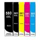 ** Sada 5 inkoustů PGI-580BK XXL + CLI-581BK, C,M, Y XXL se slevou 9 % !!