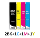 ** Sada 5 inkoustů PGI-580BK XXL + CLI-581C, M,Y XXL se slevou 9 % !!