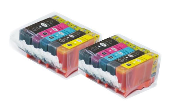 ** Sada 10 inkoustů PGI-525BK + CLI-526BK,C,M,Y se slevou 15 % !!