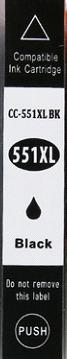 Inkoust CLI-551BK XL kompat. s Canon CLI-551BK XL, černý, 12 ml !!