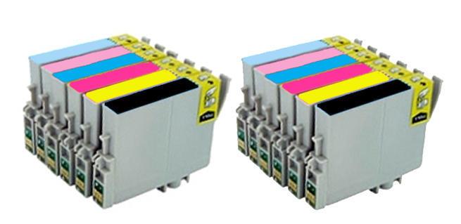 ** Sada 12 inkoustů T0801,2,3,4,5,6 do tiskáren Epson se slevou 20 % !!
