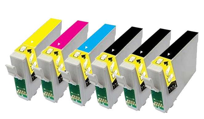 ** Sada 6 inkoustů T1281,2,3,4 CMYK do tiskáren Epson se slevou 15 % !!