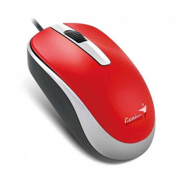 Genius optická myš DX-120, 1200 DPI, USB, červená, 3 tlačítka