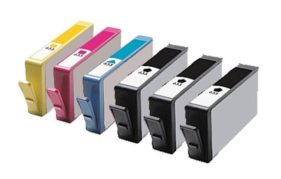 ** Sada 6 inkoustů HP 655 / CZ1xx CMYK do tiskáren HP se slevou 15 % !!