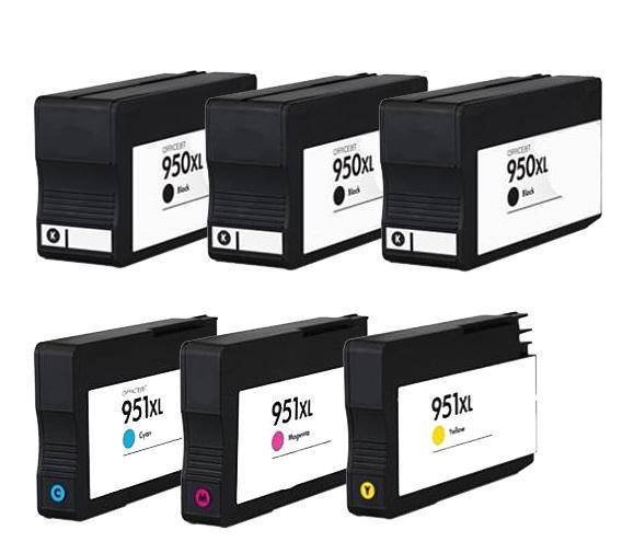 ** Sada 6 inkoustů 950XL, 951XL CMYK do tiskáren HP se slevou 15 % !!