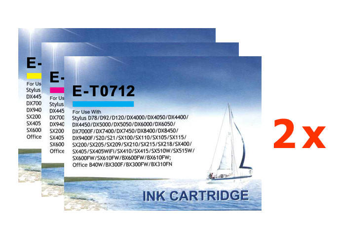 ** Sada 6 inkoustů T0712,3,4 do tiskáren Epson se slevou 15 % !!