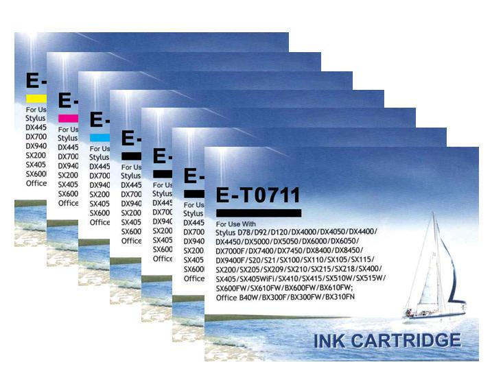 ** Sada 7 inkoustů T0711,2,3,4 do tiskáren Epson se slevou 15 % !!
