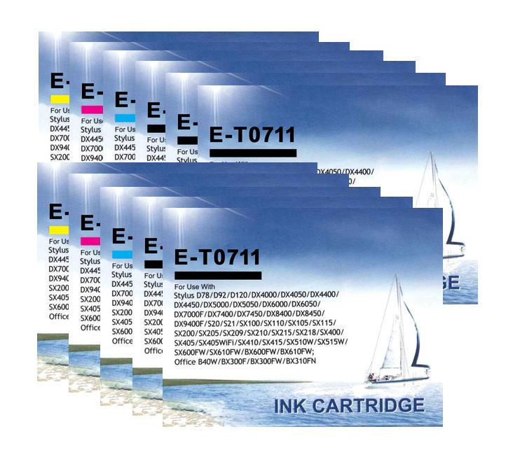 ** Sada 11 inkoustů T0711,2,3,4 do tiskáren Epson se slevou 25 % !!