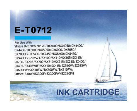 Inkoust CM0712 kompatibilní s Epson T0712, azurový, 17 ml !!