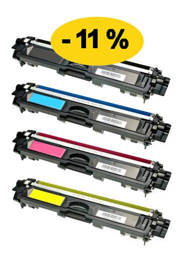 ** Sada 4 tonerů CMYK kompatibilní s Brother TN-241BK/245 se slevou 11 % !!